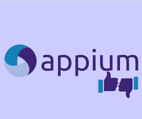 Advantages and disadvantages of appium