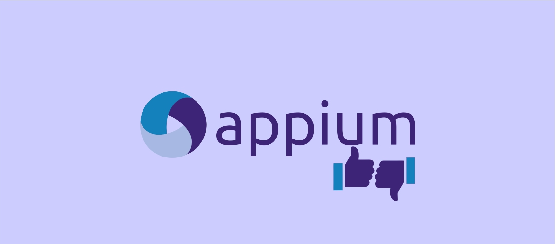 Advantages and disadvantages of appium
